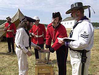Issuing the rum ration